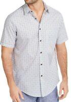 Tasso Elba Mens Shirt Classic Blue Size Large L Geometric Button Down $55 020