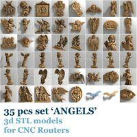 3d stl models 35 pcs set for CNC Router Artcam Aspire