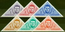 Jordan 1964 Kennedy set of 6 SG588-593 Fine Lightly Mtd Mint