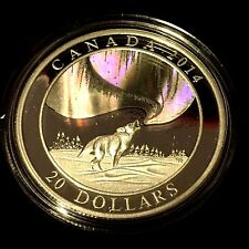 1 oz. Silver Hologram Coin - A Story of the Northern Lights: Howling Wolf - 8500