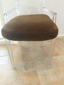 ** ANTIQUE FRENCH MOHAIR CUSHION REPLACEMENT ** FOR ORIGINAL LEATHER CLUB CHAIR