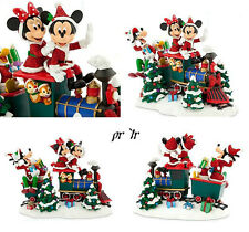 Disney Parks Santa Mickey Mouse and Friends Holiday Sleigh Figurine NEW
