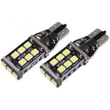 2X T10 1400 Lumens 15W High Power LED 6000K White Backup Reverse Light Bulbs