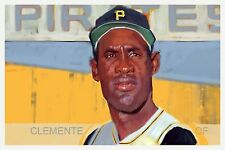 Roberto Clemente Pittsburgh Pirates Sports Art Baseball Print by Noah Stokes
