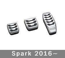 Chevy SPARK  M/T  2016~  aluminium  Sports pedal Pads  .   SET of 3P