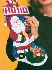 SANTA'S COMING STOCKING CHRISTMAS PLASTIC CANVAS PATTERN INSTRUCTIONS