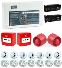 C-TEC 4 Zone Conventional Fire Alarm Kit 7 Detectors 2 Call Points 2 Sounders