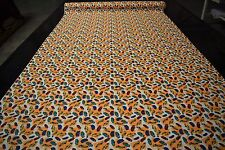 """Orange Sports Cars Print Quilt Fabric Apparel Craft Upholstery 45""""W #9978OR"""