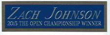 ZACH JOHNSON THE OPEN 2015 NAMEPLATE AUTOGRAPHED PGA GOLF CLUB-BAG-PHOTO-FLAG