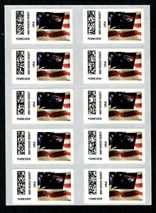 APC / CVP / ATM #CVP108 Sheet of 10 USPS Eagle Overprint ERRORS, Flag stamp