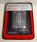 Men's Leather Wallet Front Pocket Bi-Fold Passcase Money Clip RFID Shield  Black
