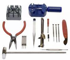 16Pcs Watch Repair Tool Kit Link Remover Band Strap Back Opener Screwdriver UK