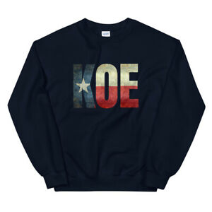 KOE (Wetzel) Texas Flag Unisex Sweatshirt Various Colors/Sizes