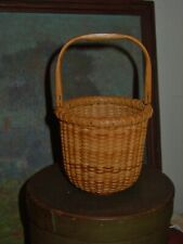Vintage Nantucket Basket 1 Egg Size Initialed Finely Made
