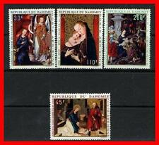 DAHOMEY 1971 CHRISTMAS PAINTINGS SC#C109-12 MNH (E15-E2)