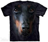 Cotton Ladies, Mens, Girls & Boy Big Face Animal Dog T-Shirt by The Mountain
