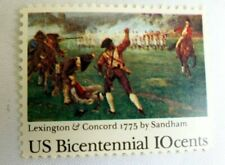 United States 10 Cents US Bicentennial Lexington Concord 1775 Stamps