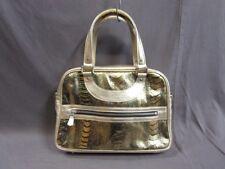 Auth JACQUES LE CORRE Gold Black Leather Handbag
