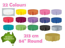 """Round Wedding Party Tablecover Table Cover Cloth Plastic Tablecloth Birthday 84"""""""