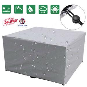 Large Outdoor Cover Garden Furniture Waterproof Patio Rattan Table Cube Set UK