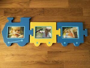 3 cadres photo petit train neuf