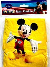 Disney Youth Kid Kids Mickey Mouse Yellow Rain Poncho Raincoat Keep Dry