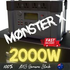 Monster X Portable Power Station 2000w AU Inputs 240v   1 500wh   Allpowers
