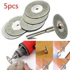 warehouse 5PCS 22mm Emery Diamond cutting blades Drill Bit+1 Mandrel