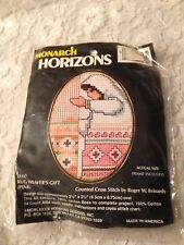 "Monarch Horizons TA117 Rug Weaver's  Gift 2.5""x3.5"" Frame Cross Stitch"