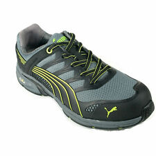 Puma Grey/Green Men's Safety shoes Work Boots composite Toe Fuse Motion trainer