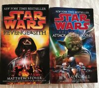 star wars book set REVENGE Of The Sith ATTACK Of The Clones NY Best Seller