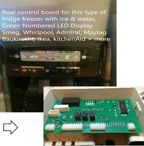 Smeg Side by Side Fridge Freezer REAR Control Board PCB, Suits Many, Improved