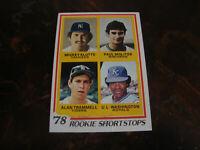 1978 Topps Baseball---Rookie---#707 Paul Molitor/Alan Trammell