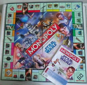 MONOPOLY STAR WARS THE CLONE WARS EDITION GAME BOARD AND RULES/INSTRUCTIONS