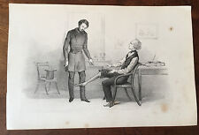 c1860 -  Comic lithograph  - at the doctor