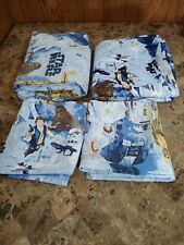 Star Wars Pottery Barn Kids New Hope Sheet Set Full Size 4Pc EUC