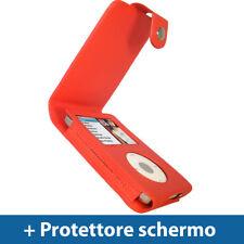 Rosso Eco Pelle Custodia per Apple iPod Classic 80/120/160GB Case Cover