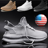 Men's Athletic Running Shoes Gym Running Sports Tennis Sneakers Outdoor Casual