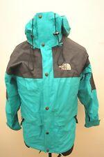 Raro North Face 1990S Goretex lluvia para Hombre Chaqueta Verde/Negro Pequeño