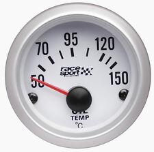 Sumex Marca 52mm De Diámetro 12v Coche Aceite Termómetro Medidor Dial-Satin Silver