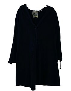 Rare Norma Kamali Everlast Black Zip Front Jacket Hoodie-size M Medium L5