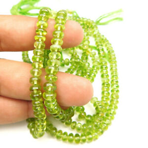 Peridot Natural Gemstone Rondelle Shape 13 inch Faceted Beads GIBD94