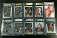 LEBRON JAMES 2003 TOPPS BOWMAN CHROME UD ROOKIE RC BGS 9.5 PSA 10 (10-CARD LOT)