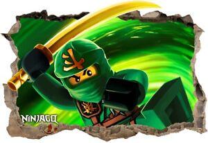 s21 NINJAGO 120cm STICKER 3D LEGO Wandaufkleber Wandtattoo