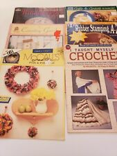 Lot of 6 Vintage Decorative Tole & Craft Painting & other Craft Crochet Books