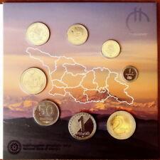 GEORGIA 1 2 5 10 20 50 THETRI 1, 2 LARI COINS SET UNC 2017 OFFICIAL ALBUM RARE
