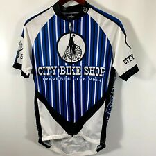 New listing Canari Jersey Men's Large Bike Shirt Zip Pouches City Bike Shop Traverse City MI