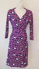 Diane von Furstenberg New Julian two French Kiss Peony wrap dress 8 pink lips