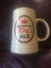 ALL HAIL THE KINGS ALE CERAMIC TANKARD /MUG Beer / Ale 1 Pint