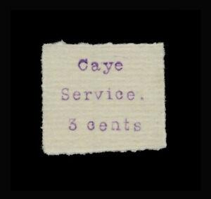***REPLICA*** of British Honduras 1895 - Caye Service local - 3 Cents purple